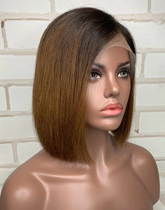 INDIAN HAIR - VIOLA TRI-COLOR SUMMER BOB LACE FRONT WIG - ILFB007