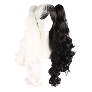ApofBeauty Multi-color Lolita Long Curly Clip on Ponytails Cosplay Wig