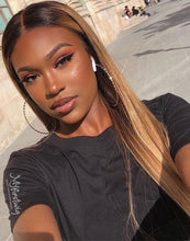 Load image into Gallery viewer, YARA - MALAYSIAN HUMAN HAIR BLONDE OMBRE HIGHLIGHT LACE FRONT WIG - LFW044