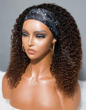 Load image into Gallery viewer, LIBRA - ZODIAC COLLECTION HUMAN HAIR SHORT OMBRE BROWN CURLY WIG - ZC006