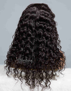 PISCES - ZODIAC COLLECTION HUMAN HAIR CURLY WIG - ZC011