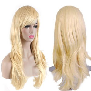 "AKStore Fashion Wigs 28"" 70cm Long Wavy Curly Hair Heat Resistant Wig Cosplay Wig For Women With Free Wig Cap( Twelve colors)"