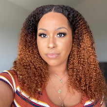 Load image into Gallery viewer, LEO - ZODIAC COLLECTION HUMAN HAIR OMBRE CURLY (3B-3C) WIG - ZC012