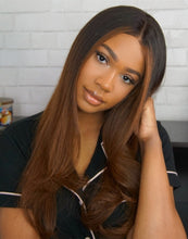 Load image into Gallery viewer, VIVIAN WIG - MALAYSIAN HUMAN HAIR OMBRE LACE FRONT WIG - LFW017