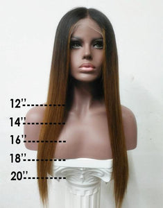 VIVIAN WIG - MALAYSIAN HUMAN HAIR OMBRE LACE FRONT WIG - LFW017