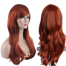 "Load image into Gallery viewer, AKStore Fashion Wigs 28"" 70cm Long Wavy Curly Hair Heat Resistant Wig Cosplay Wig For Women With Free Wig Cap( Twelve colors)"