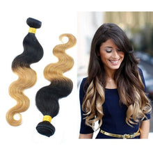 Load image into Gallery viewer, T color body wave human hair bundle