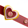 Happy Campers Heart & Pink Cat Eye Dog Collar