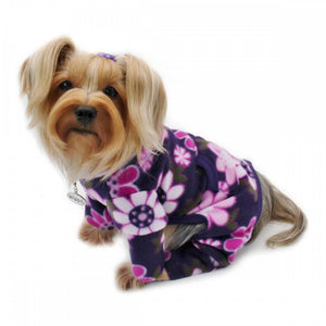 Midnight Garden Fleece Turtleneck Dog Pajamas