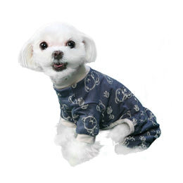 Milo Dog Pajamas in Gray Trim