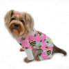Ultra Soft Minky Bumblebee and Flowers Dog Pajamas