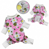 Ultra Soft Minky Bumblebee and Flowers Pajamas