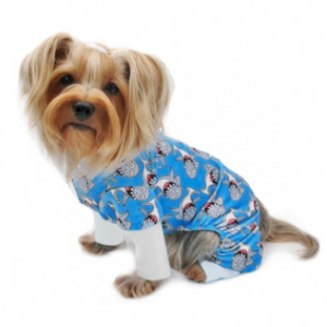 Ultra Soft Minky Silly Sharks Dog Pajamas