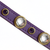 Diamond Faceted Rhinestones & Amethyst Dog Collar
