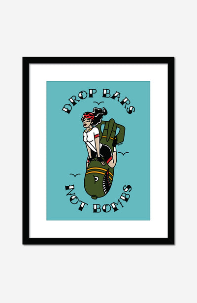 Drop Bars not Bombs Fine Art Print