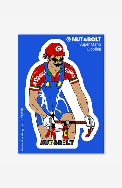 Super Mario Cipollini Sticker / Decal