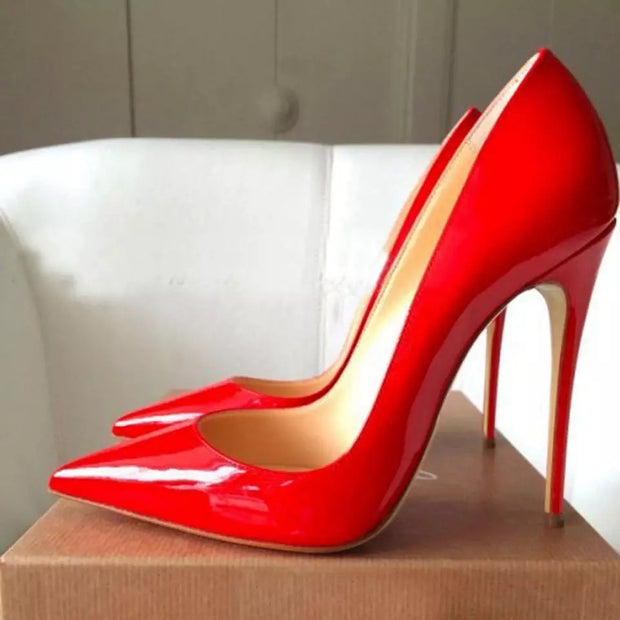 BIANKA Sexy Red Pointed High Heels