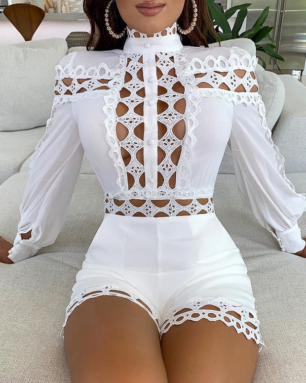 MARRY ME Hollow Out Romper