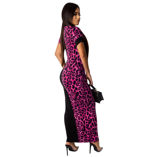 SOPHIA Fashion Leopard Maxi dress