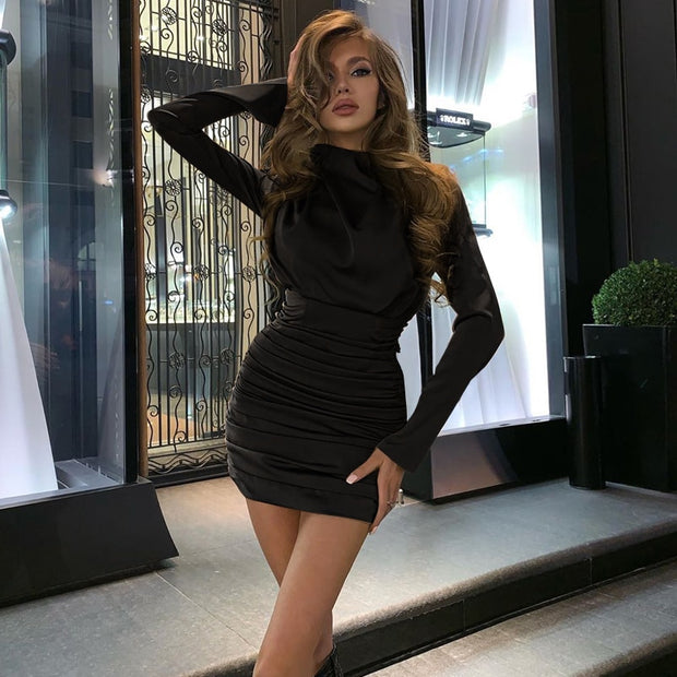 ANDREA Long sleeve  mini dress