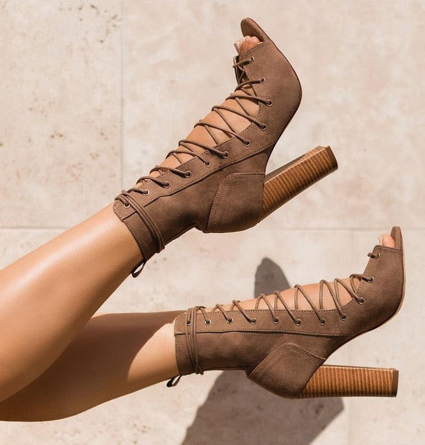 ELEONORA  Lace UP High Heels