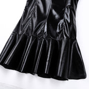 LIA PU Leather Party Mini Dress