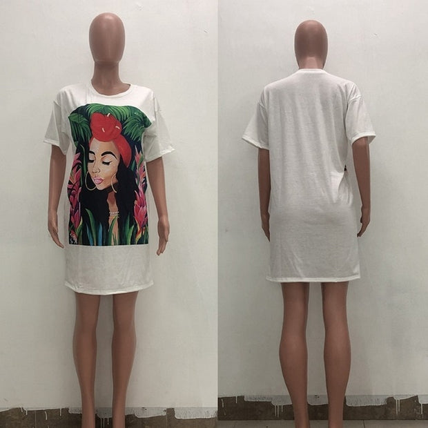 NAMASTE Oversized T Shirt Dress