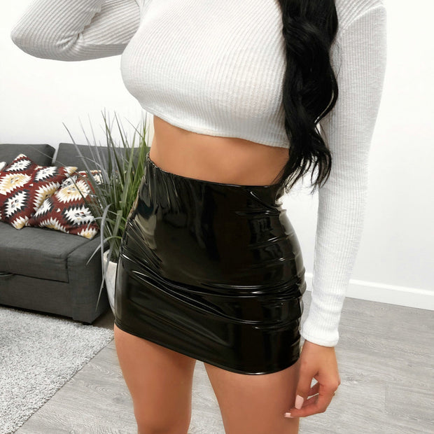 VIVA PU Leather Skirt