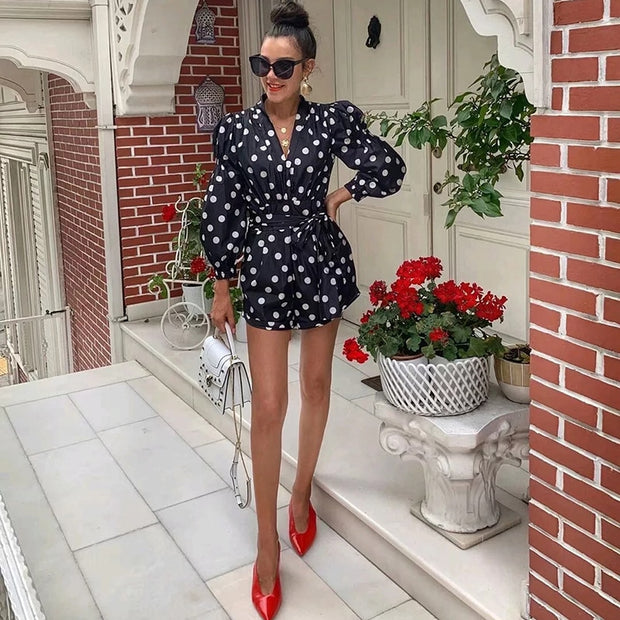 SUNNIE Polka Dot Print Jumpsuit