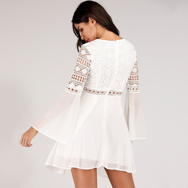 MYKONOS Summer Lace Mini Dress