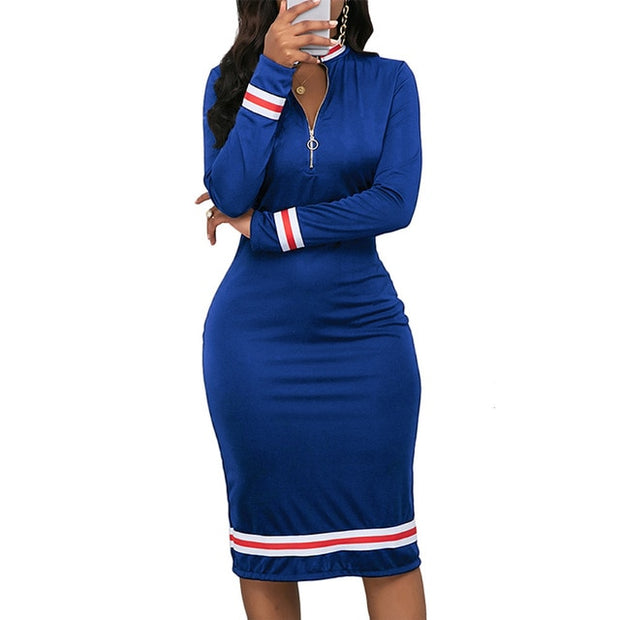 MEGAN  Long Sleeve Sport Style Dress