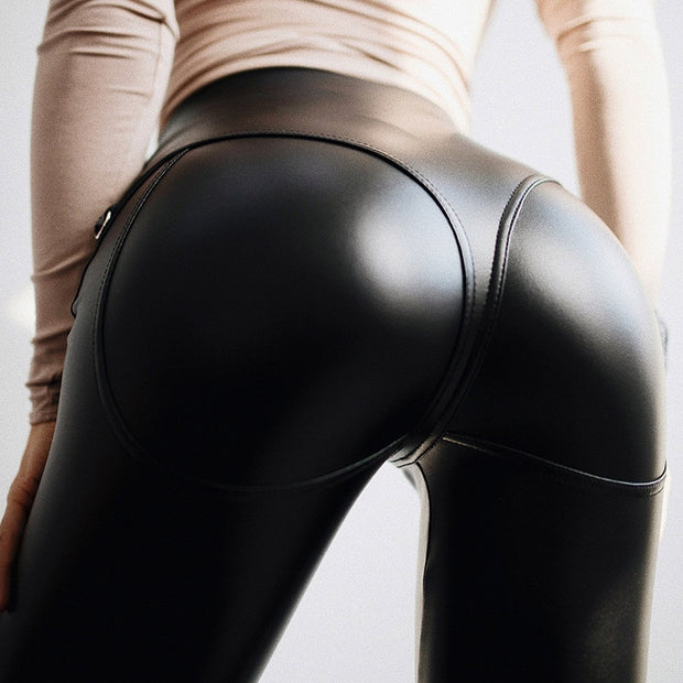 Nati Leather  Push Up Leggings
