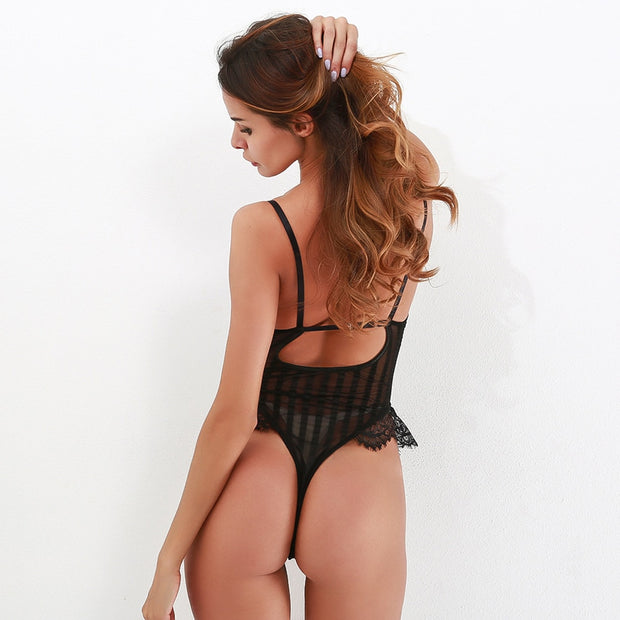 Sira Lace backless bodysuit