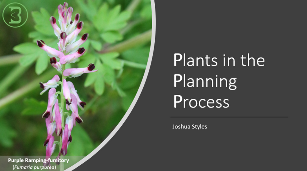 Plants in the Planning Process