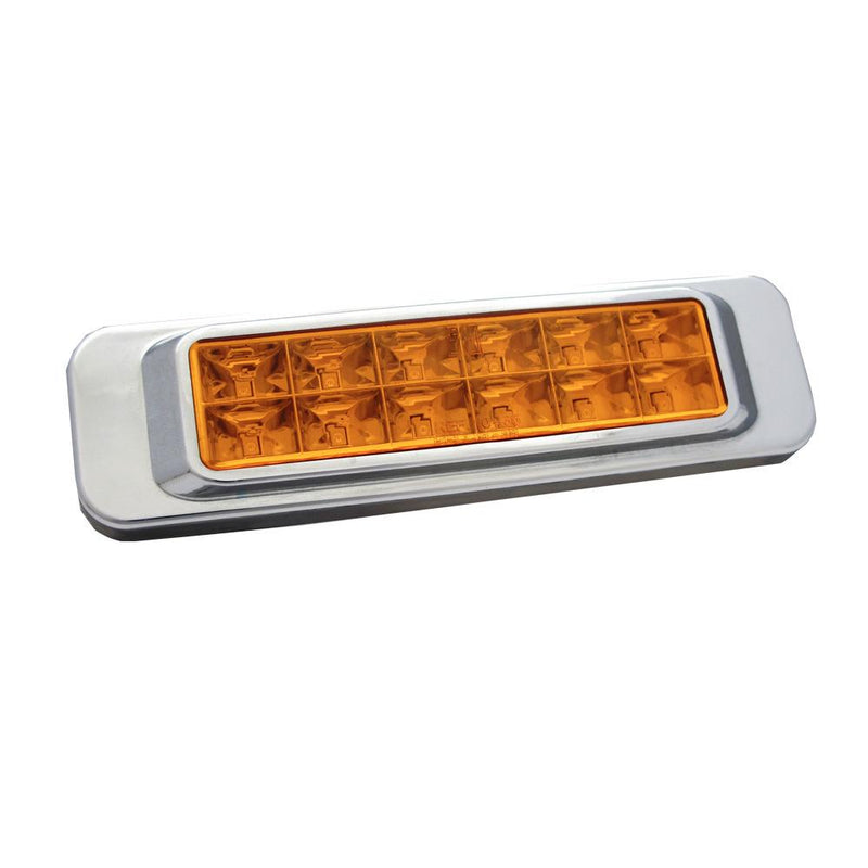 Faro Lateral Rectangular 12 Led 12V 24V Ambar 1035 Innova Plast