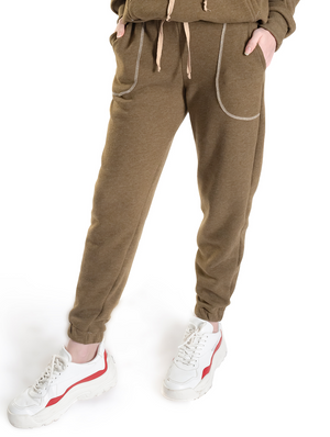 Olive Jogger Outside Pocket