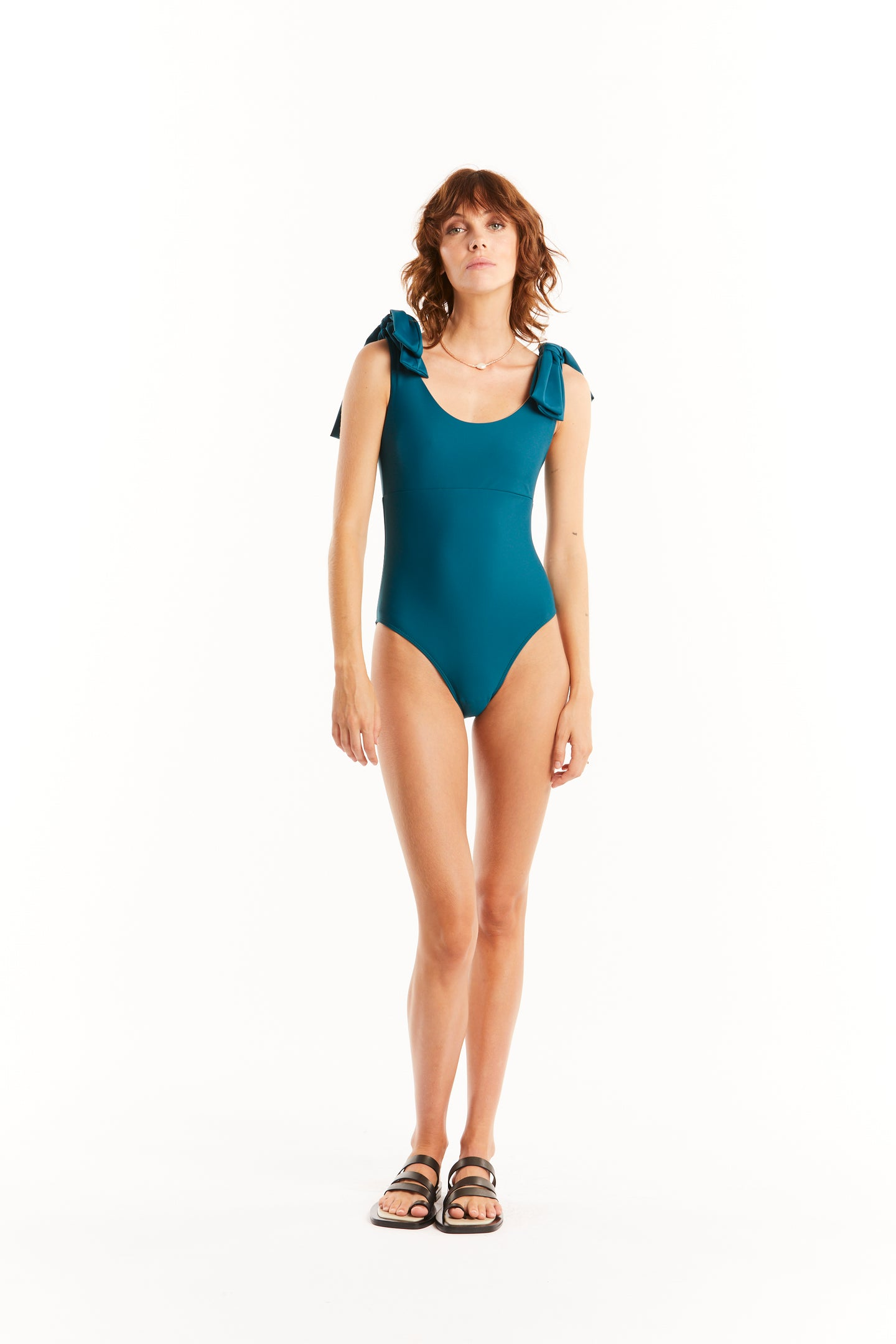 BOW ONEPIECE - TEAL