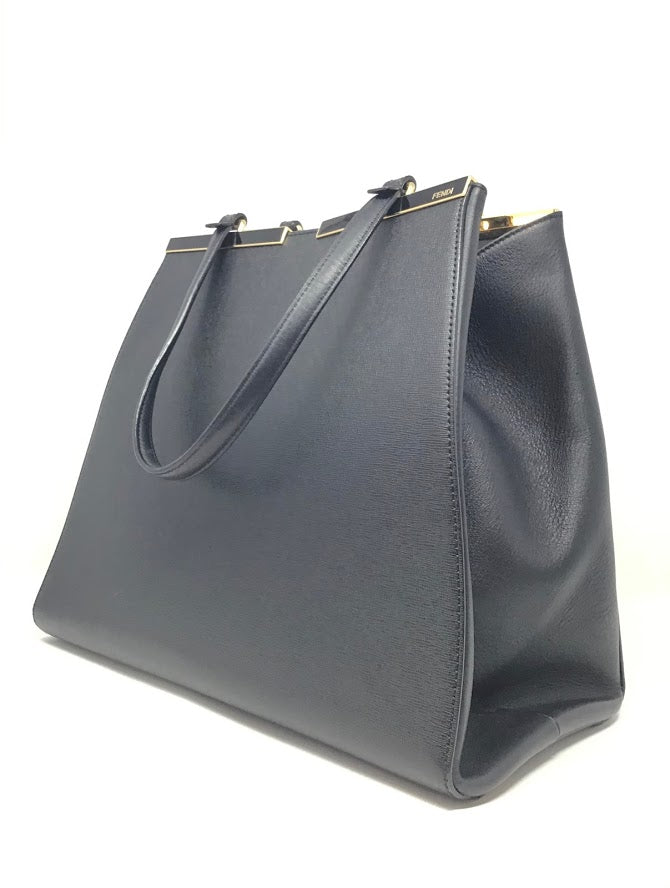 Fendi Black 3Jours Large Shopper Tote