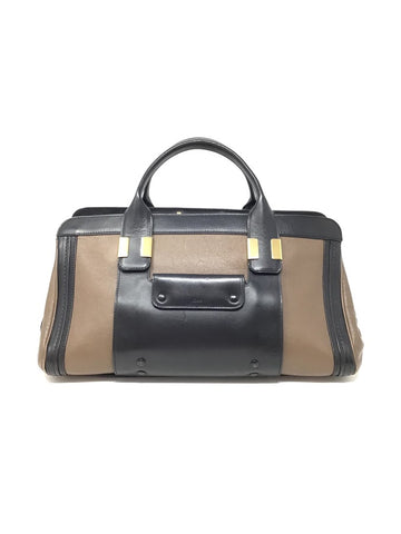 Chloe Black/Brown Medium Color Block Alice Satchel