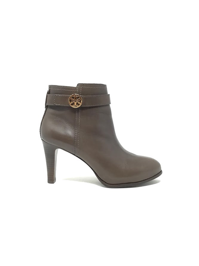 Tory Burch 8.5 Leather 'Bristol' Bootie W/Logo