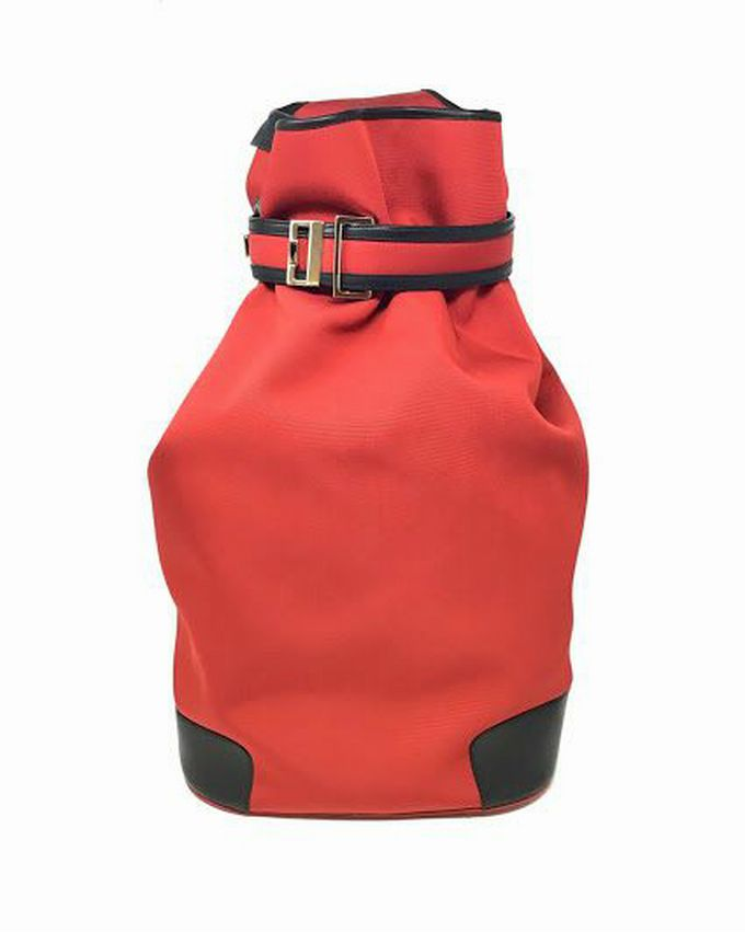 Gucci Red Canvas Oversized Sling Backpack Bucket
