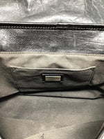 Fendi Black  Nappa/Patent Leather 'B' Double Buckle Bag