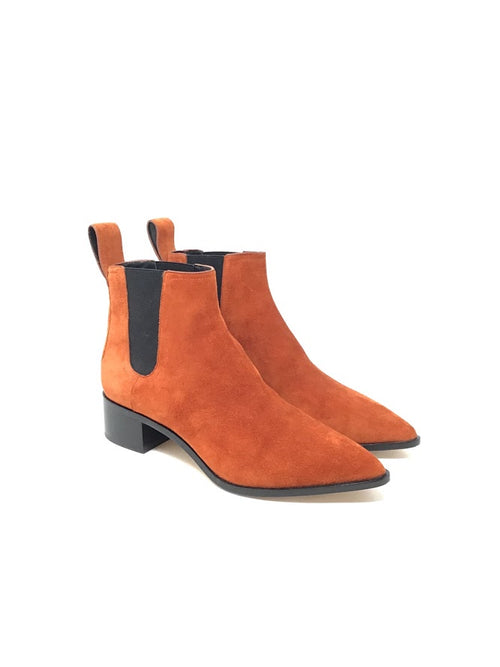 Loeffler Randal 7.5 Suede Pointed Booties