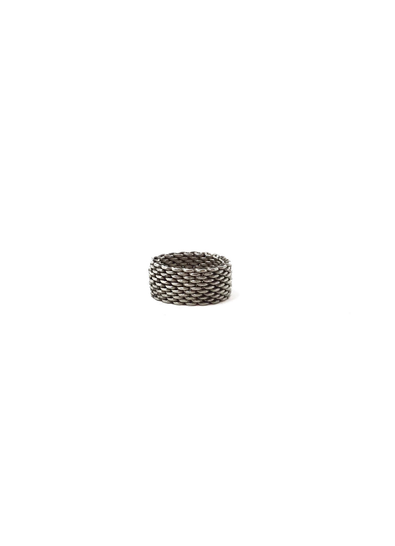 "Tiffany & Co. Silver Sterling ""Somerset' Mesh Ring"