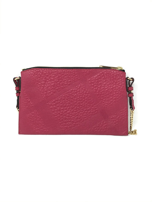 Burberry Signature Grain 'Peyton' Embossed Check Crossbody