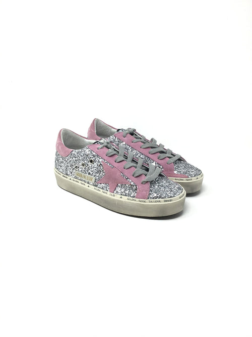 Golden Goose W Shoe Size 37 Hi-Star Low Top Glitter Suede Detail Sneakers