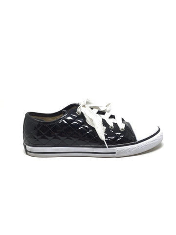 Dolce & Gabbana 37 Patent Quilted Lace Up Sneaker