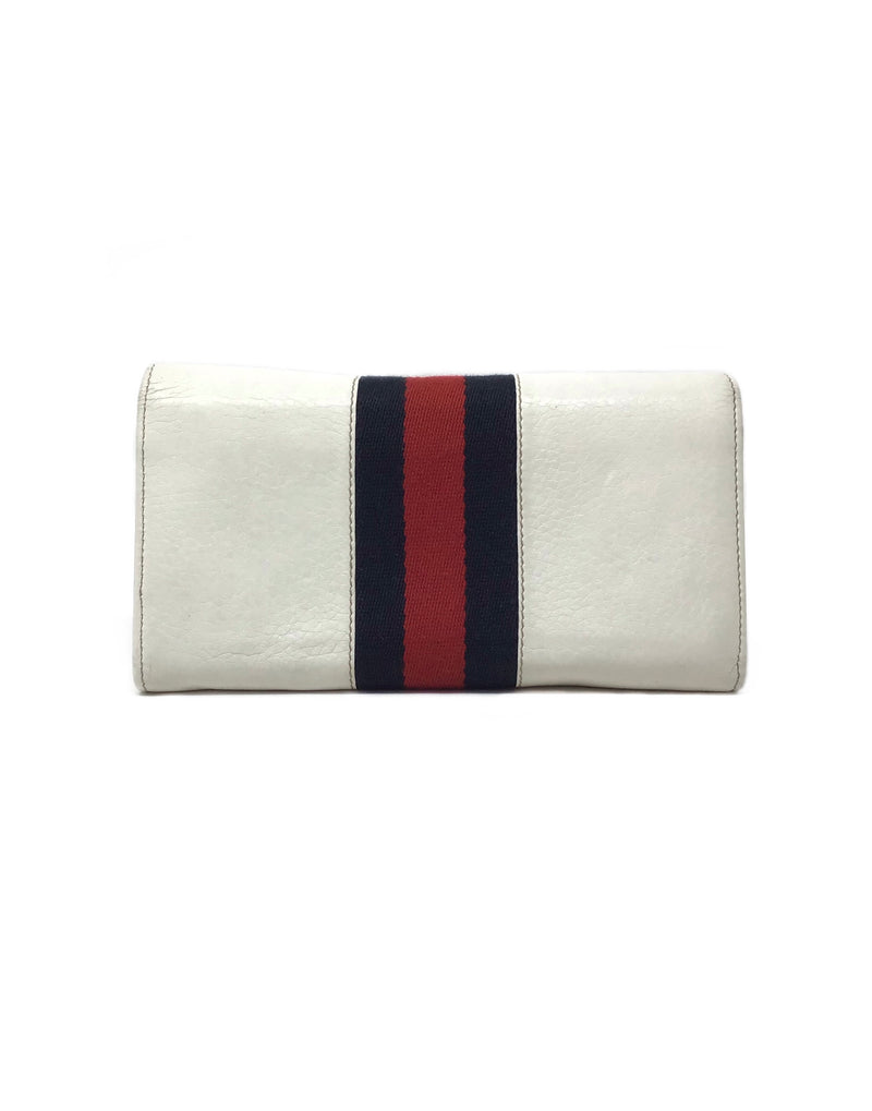 Gucci Leather Web Horsebit Wallet