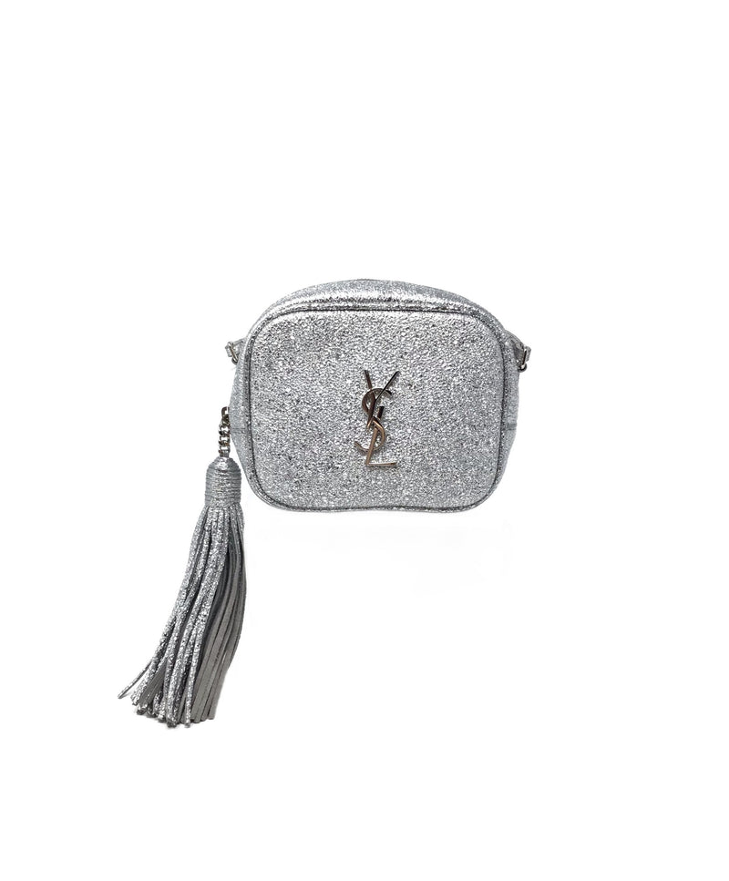 Saint Laurent Crackled Monogram 'Blogger' Crossbody