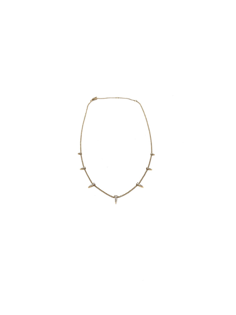 Bella Madre 14K Diamond Spike Choker